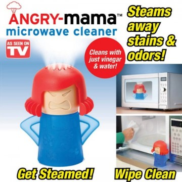 Angry Mama Microwave Cleaner Steams Away Stains and Odors