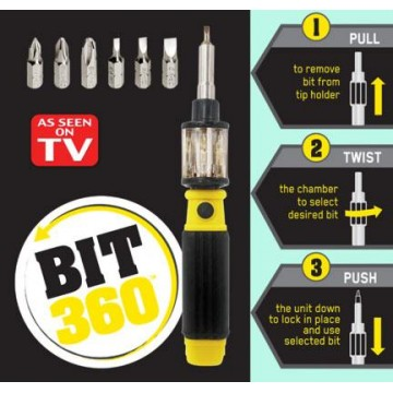 Bit 360 Change Screwdriver Bits with Just a Twist