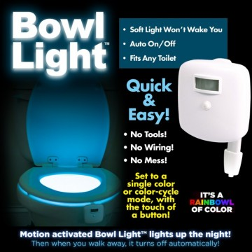 Bowl Light Motion-activated LED Light Turn Your Toilet Into a Night-Light