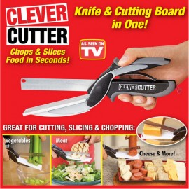 Clever Cutter 2-in-1 Knife and Cutting Board Chops and Slices Food in Seconds