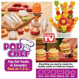 Pop Chef Anaranjado Push Pop and Eat Pop out treats in seconds