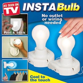 Insta Bulb the Patented Light You Can Stick Anywhere 2 ct