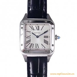 Top Quality Santos-Dumont Watch Steel Leather