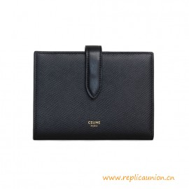 Top Quality Medium Strap Wallet in Grained 100% Calfskin