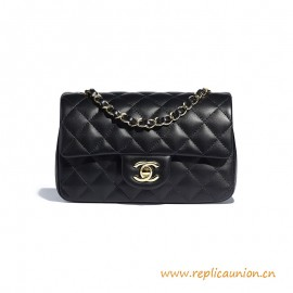 Top Quality Mini Flap Bag Lambskin Gold-Tone Metal