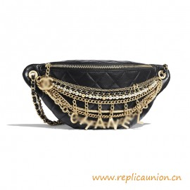Top Quality Waist Bag Lambskin Gold-Tone Silver-Tone Metal