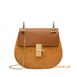 Original Design Drew Shoulder Bag in Suede Calfskin and Smooth Calfskin