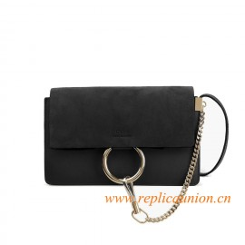 Original Long or Short Faye Shoulder Bag in Suede Calfskin Smooth Calfskin