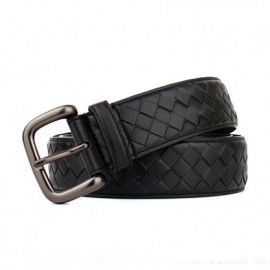 Calfskin Leather Belt The Iconic Intrecciato Weave Motif Belts