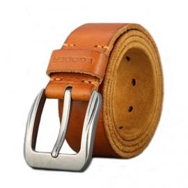 LEDDER Export Leather Belt Italy First Layer 3.9cm Width Leather Belt