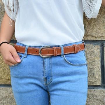 Korean Design Belt Female Summer Decorative Simple Multi-color PU Leather Belt