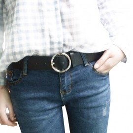 Needle Buckle Small Belt Female Belt Simple Style PU Leather