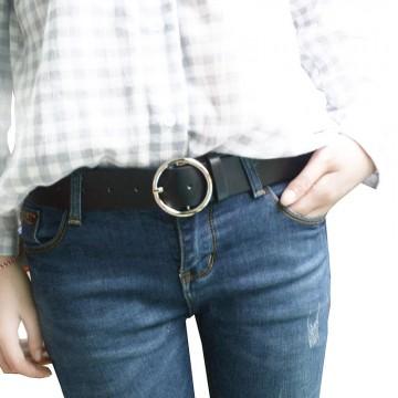 Needle Buckle Small Belt Female Belt Simple Style PU Leather
