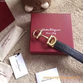 Fer****mo Calfskin Belt Limited Edition Parigi Buckle Belt