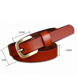 Fashion Design Belt Female Second Layer Women Leather Belt