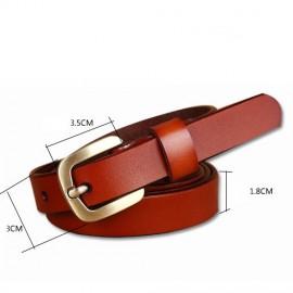 Fashion Design Belt Female Second Layer Women Leather Belt