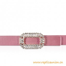 Top Quality Pilgrim Belt in Silk with Crystal-encrusted Buckle