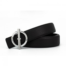 ZUER Casual Round Buckle Leather Belt Brand Leather Belt OEM