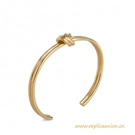 Top Quality Knot Double Bracelet in Brass with Gold Finish