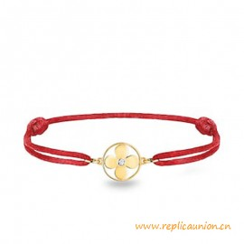 Top Quality Idylle Blossom Sun Cord Bracelet with Diamond