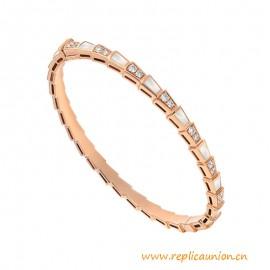 High End Serpenti Narrow Bracelet with Pavé Diamonds