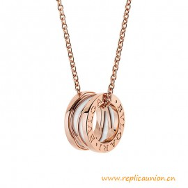 High End B.zero1 Legend Necklace with 18 kt Rose Gold and Ceramic