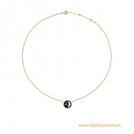 High End Rose Céleste Necklace 18K Yellow Gold with Diamonds
