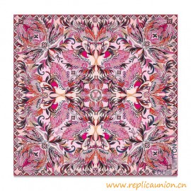 Original Design Quality Angels Square Silk Scarf Pink