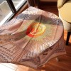 Original Design Quality Vendôme Square Light Gray Silk Scarf