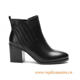 Leather Boots Martin Boots 7cm High Heels Women's Boots