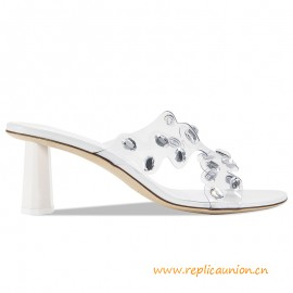 Top Quality Gorgeous White Leather with Fun Crystal