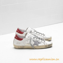 Top Quality Golden Deluxe Brand Superstar Shoes Red