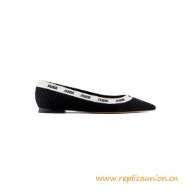 Top Quality Embroidered Ballet Flat Leather Sole with Star Accessory