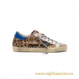 Top Quality Superstar Sneakers in Leopard Print Pony Skin