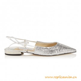 Top Quality Gemista Flat Silver Suede and Galactica Glitter Fabric
