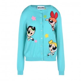 Original Qaulity Women's Powerpuff Girls Cardigan Light Blue