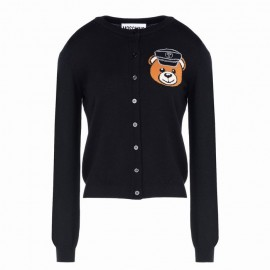 Original Qaulity Biker Teddy Bear Womens Cardigan Black