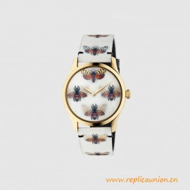 Quality G-Timeless Watch 38mm Quartz Movement Bee and Butterfly Motif