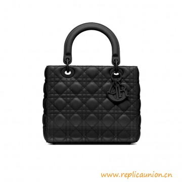 Top Quality Lady D Ultra-matte Bag in Matte Black