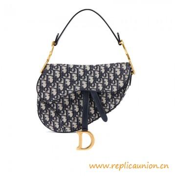 Top Quality Oblique Jacquard Canvas Saddle Bag