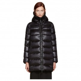 Long Sleeve Quilted Down-filled Kacket in Black Down Suyen Coat