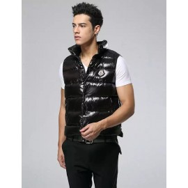 Top Quality Vest in lacquered Nylon Tib Vests Side Zipped Pockets