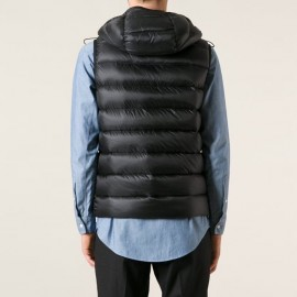 Vest in Doudoune légère with Detachable Hood Ray Vests