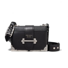 Leather Shoulder Strap Bronze Hardware Cahier Bag