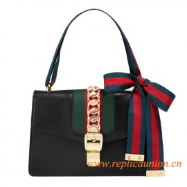 Original Design Quality Sylvie Leather Shoulder Bag Black Leather