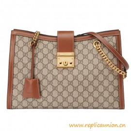 Top Quality Padlock Medium Soft Leather Shoulder Bag