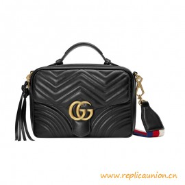 Top Quality Marmont Small Shoulder Bag Chevron Leather