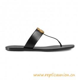 Sandalia de cuero de tanga auténtica de calidad Suela de cuero
