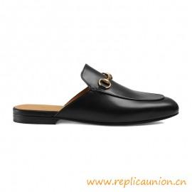 Sandalias de cuero metálico Princetown para mujer de alta calidad