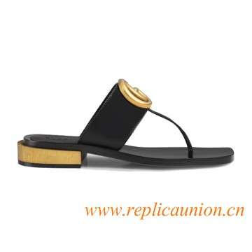 Original Design Leather Thong Low Heel Sandal for Women